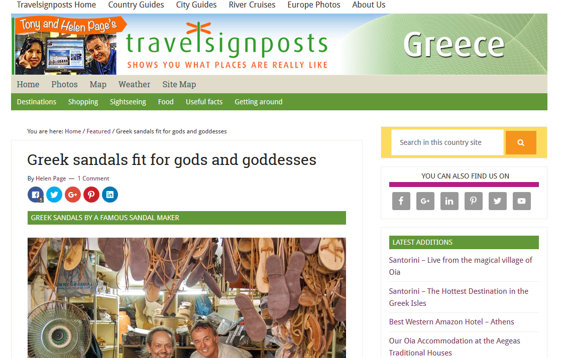 Travelsignposts Greek Sandals Fit for Gods and Goddesses