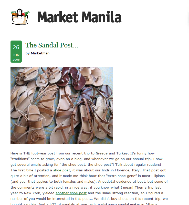 Market Manila The Sandal Post